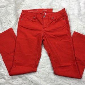 Loft Modern Straight Corduroy Pants